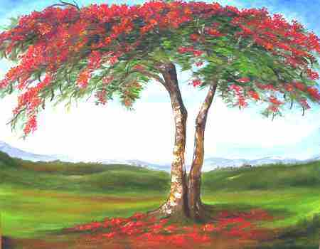 Paintings Of Trees. Order your Flamboyan Painting